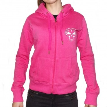 Pink RTC hooded lady zip