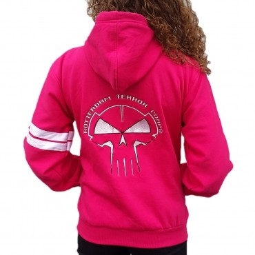 RTC Lady Hooded zipper Pink Stitched
