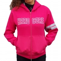 Hardcore Hooded Pink zipper