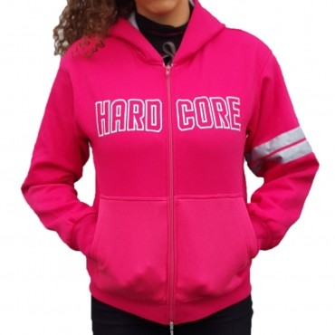 Hardcore Lady hozip pink stitched