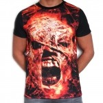 100% Hardcore T-Shirt Subl Scream Gold