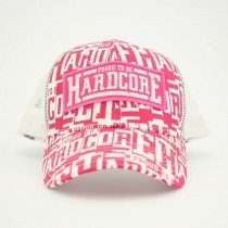 Proud to be Hardcore Trucker cap Pink/wh