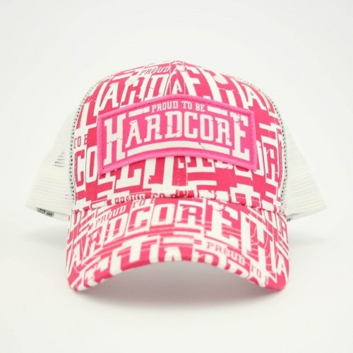 Proud To Be Hardcore Trucker Cap Pink Wh Ptbhctrcappink