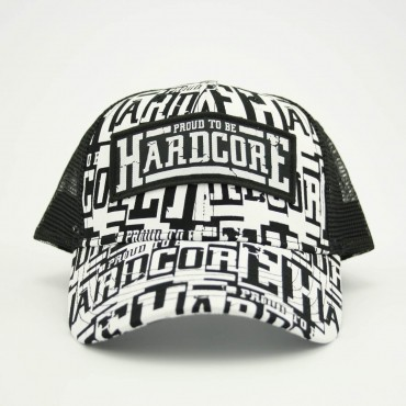 Proud to be Hardcore Trucker cap Black