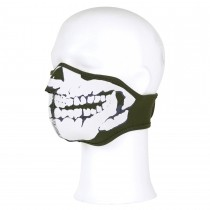 Biker Mask SKULL Army Green