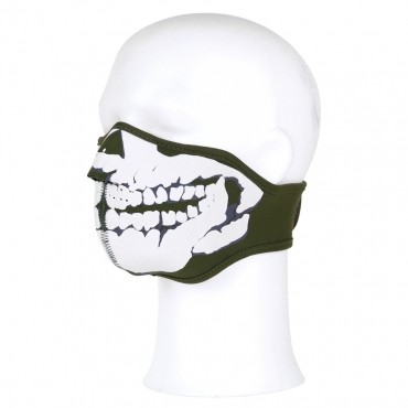 Biker Mask SKULL Army Green
