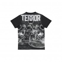 TERROR T shirt subl Death by Snake