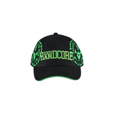 100% Hardcore Cap Bonecircle Black/Neon