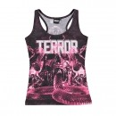 TERROR Lady Singlet Death by snake pink