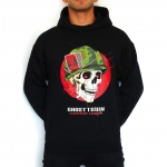 D2e Ghosttown Hooded - Skull with helmet