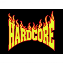 Hardcore Flame Logo poster