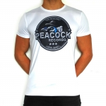 Peacock Records Soccershirt white