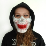 Half Face Skull Mask White
