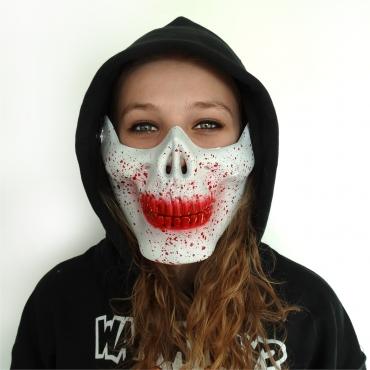 Half Face Skull Mask White