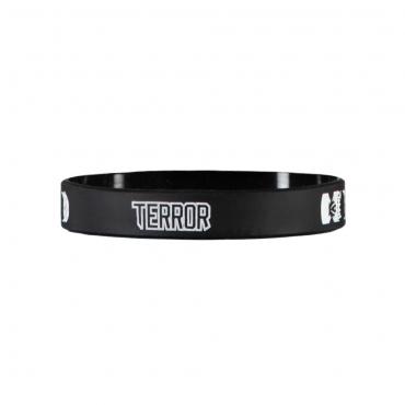 TERROR silicone wristband B/W