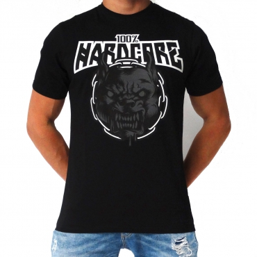 100% HARDCORE T-SHIRT RAGE BLACK