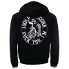100% HC HOODED ZIPPER F*CK YOU