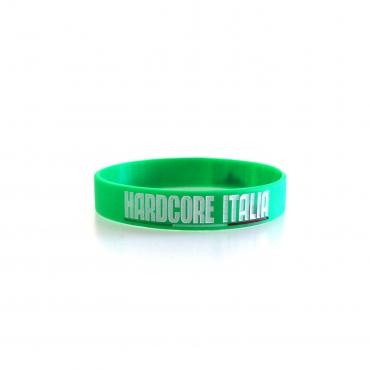 Hardcore Italia Green Silicone wristband