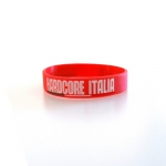 Hardcore Italia Red Silicone wristband