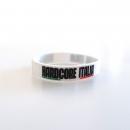 Hardcore Italia White Silicone wristband