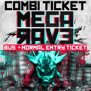 Megarave 27-07-2019 Bus + entree Ticket