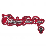 RTC sticker logo+tekst white/red