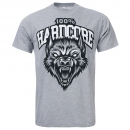 100% Hardcore T-Shirt The Wolf grey