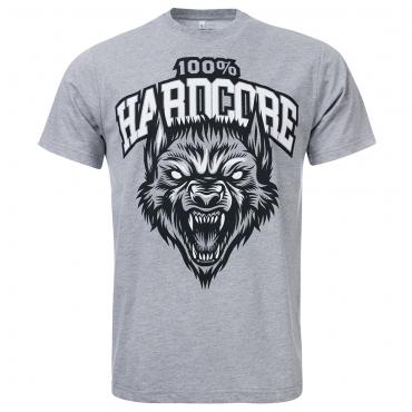100% Hardcore T-Shirt The Wolf grey