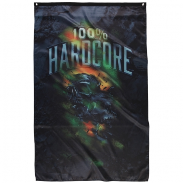 100% Hardcore banner Night Skulls
