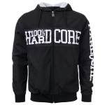 100% Hardcore Windbreaker center bla/whi
