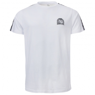 100% Hardcore T shirt taped white