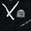 100% Hardcore Hooded zipper taped