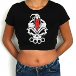 DRS Crop Top logo wit rood