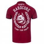 100% HC Polo Stand Your Ground Bordeaux