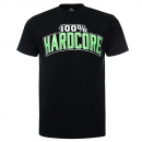 100% Hardcore T shirt the brand green