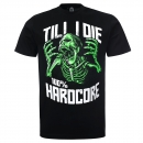 100% Hardcore T shirt deadly scream green