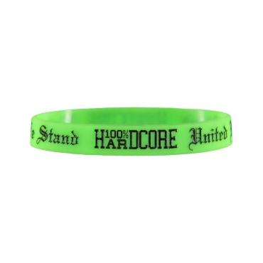 100% Hardcore silicone wristband Neon green