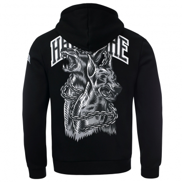 100% Hardcore Hooded zipper Doberman