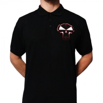 RTC polo black Red Stitched