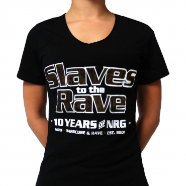 Slaves to the rave 17-11 lady V-neck