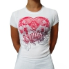 White Sullen Heartness girl shirt