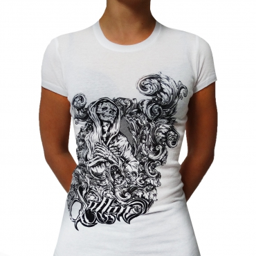White Sullen Visceral lady shirt