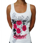 White Sullen terror girl shirt