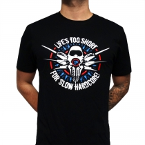 Partyraiser T-shirt 'Life's too short for slow hardcore'