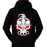 DRS black white red hooded 2019