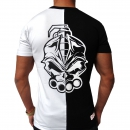 DRS Black white half t shirt