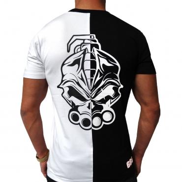 DRS Black white half t shirt