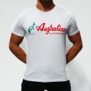 Australian t shirt cotone stamp white