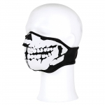 Biker Mask Half Face White Mouth