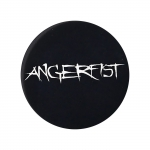 Angerfist Button, white plastic